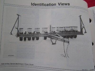 1989 John Deere 7200 Maxemerge 2 Drawn 6-rw 8-rn Planter Operators Manual F9