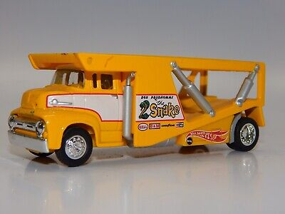 Hot Wheels 100% LE Son Prudhome SNAKE funny Car Transporter Yellow EXC+ RARE