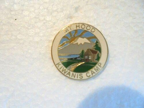 Vintage Mt Hood Kiwanis Camp Enamel Lapel Pin