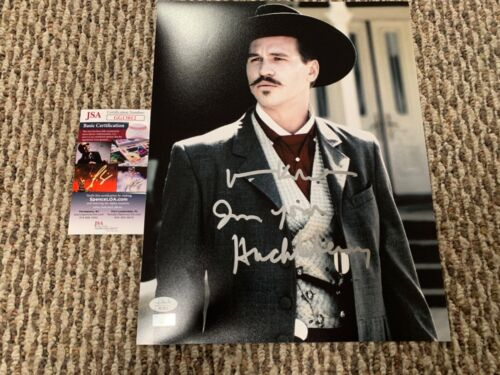 Val Kilmer Doc Holliday From Tombstone Autographed 11x14 Photo JSA Celebrity B