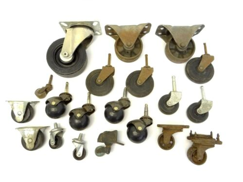 Mixed Lot Round Rubber Metal Casters Feet Wheels Furniture Parts FSP Bassick