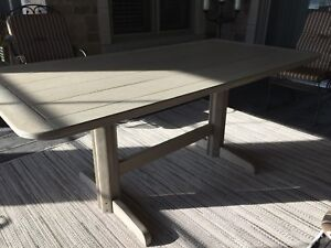 Recycled plastic patio table