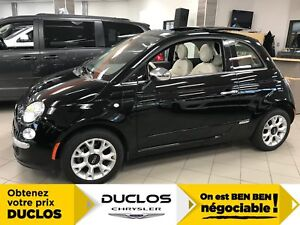 2016 Fiat 500 LOUNGE CUIR, MAGS, TOIT