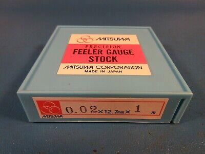 Mitsuwa Feeler Gauge Stock 0.02 X 12.7mm Wide X 1 Meter Long Starrett