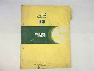 John Deere 1550 And 1650 Backhoes Technical Manual For Tractors 850 950 1050
