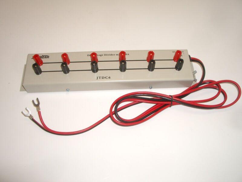 JETSTREAM JTDC6 6 OUTLET DC POWER STRIP W/ BINDING POSTS 20AMP