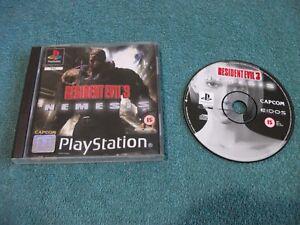 Resident Evil 3 Nemesis - Sony PlayStation PS1 UK PAL !!!