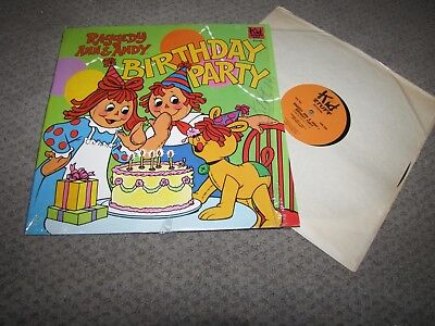 RAGGEDY ANN & ANDY - BIRTHDAY PARTY - KID STUFF RECORDS LP
