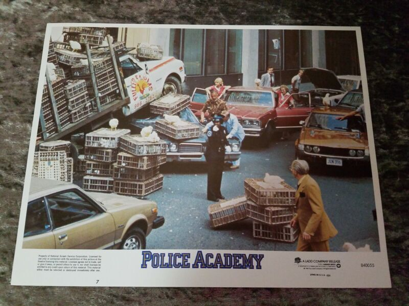 Police Academy lobby cards - Lot of 4 cards (1984)