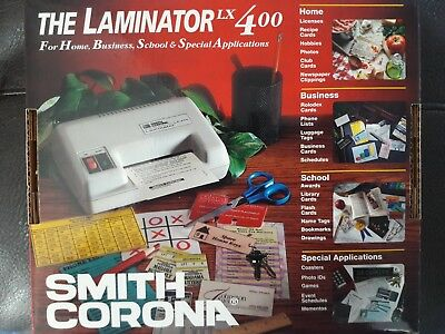 (SMITH CORONA THE LAMINATOR LX 400, For Home,Business, School & Special Appli)