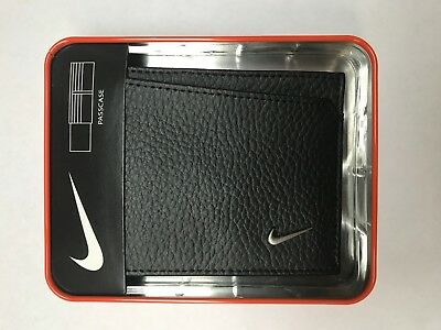 Nike Golf Men's Leather Passcase Wallet, Black