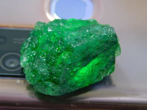 36.00Ct + Translucent Natural Colombian Emerald Green Loose Mineral Rough 1pcs H