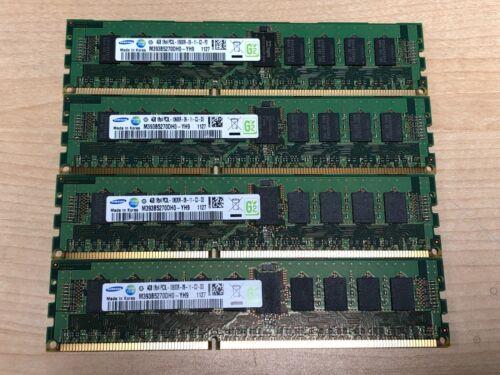 16GB (4 X 4GB) Samsung 1Rx4 PC3L-10600R DDR3 ECC Registered Server 16GB dell HP