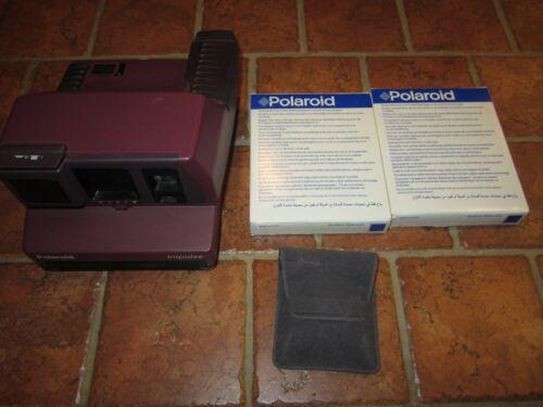 Vintage Polaroid Impulse 600 Purple AF Instant Film Camera w/ Filter & Film