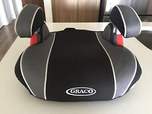 Raspberry and/or Graphite Booster Car Seat