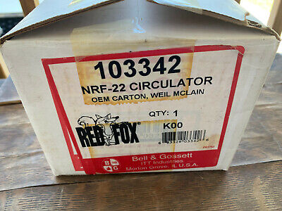Nos Bell Gossett Red Fox Nrf-22 Circulator 103342 In Box With Instructions
