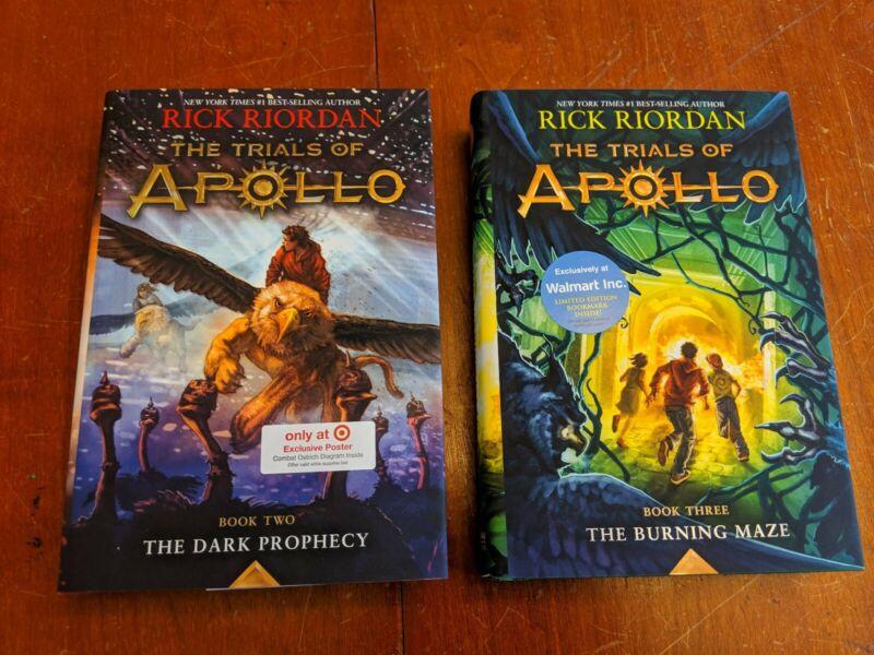 Trials of Apollo #2:Dark Prophecy & #3:Burning Maze (Rick Riordan, Hardcover)