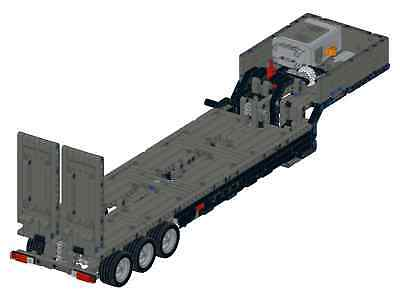 Bauanleitung instruction Tieflader Mack 42078 Eigenbau Unikat Moc Lego  Technic