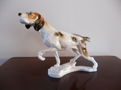 Ens Germany porcelain dog (German Shorthaired Pointer)