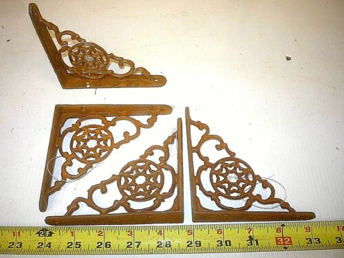 2 SMALL OLD  STYLE WALL  SHELF BRACKET  PORCH CORBEL  CAST IRON