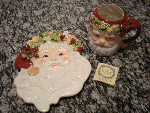 WATERFORD Holiday Heirlooms St Nicholas Cookie Plate & Mug Christmas Memories