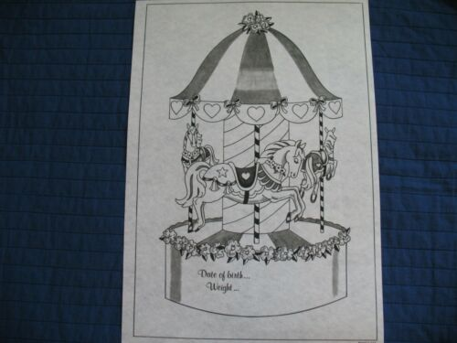 * TRI CHEM 8089 CAROUSEL BABY CERTIFICATE  Picture to Paint TRICHEM