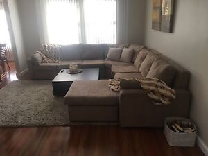 7 seater suede couch Windsor Gardens Port Adelaide Area Preview