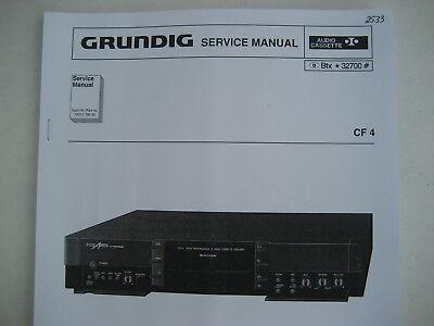 CF 4 Cassetten Deck Fine Arts Service Manual + Schaltplan + BDA für GRUNDIG  online kaufen