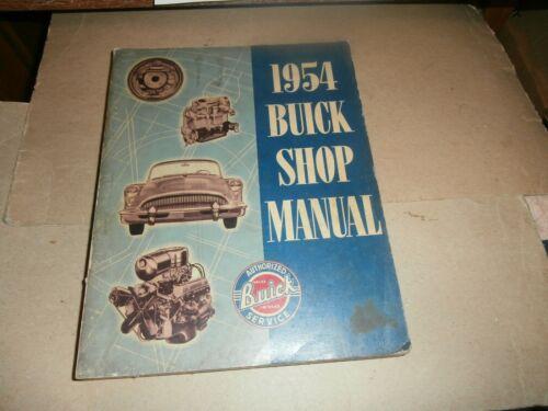 Original 1954  Buick   Shop Manual