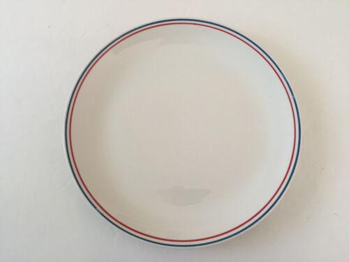 "Barker Bros Ltd Royal Tudor Ware BAB12 Red Blue Band Stripe 10-1/4"" DINNER PLATE"