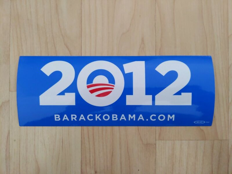 Obama Biden 2012 Presidential Campaign Official Bumper Sticker Blue RARE!!