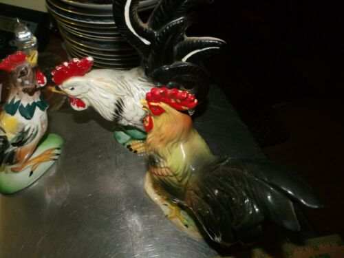 3 Vintage  Rooster Chickens