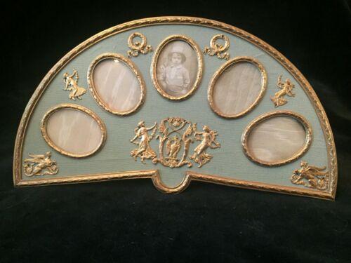 Fantastic and Rare Antique Gilt Dore Bronze Fan Photo Frames