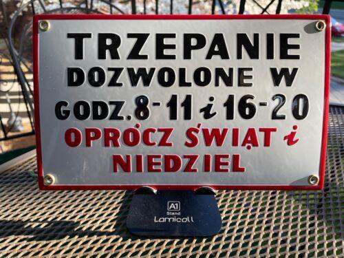 Original Enamel Sign From Poland
