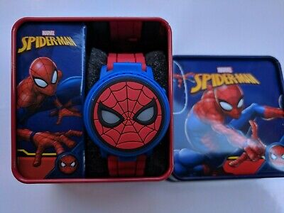 Marvel Spiderman Kids Digital Watch Lights Up Boys Girls Gift Box Toy Avengers