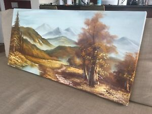 Landscape oil painting on canvas