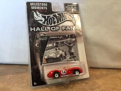 "Hot Wheels Hall of Fame Milestone Moments ""FERRARI TR 250 in Red "" 1/64"