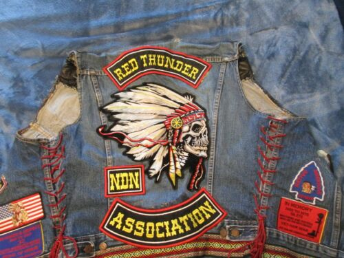 American Indian Movement RED THUNDER ASSO. Levis Denim CHIEF