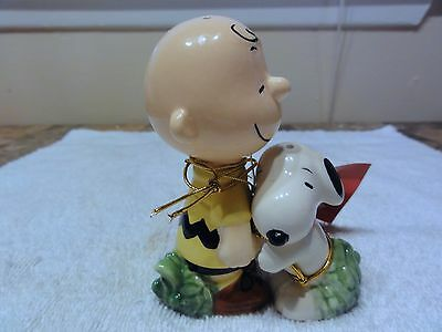Peanuts Charlie Brown & Snoopy Salt & Pepper Shakers -- Beautiful Set