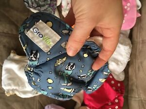 14 newborn cloth diapers (all different brands)