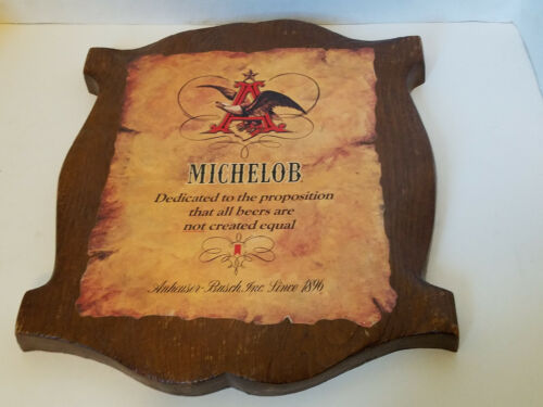 VINTAGE MICHELOB BEER SIGN GREAT CONDITION (PLASTIC) ANHEUSER BUSCH 16X14