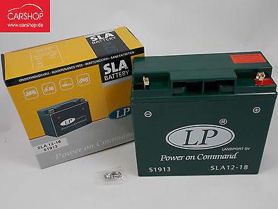 Landport Motorradbatterie SLA- Batterie 12V 18Ah SLA12-18 51913 NEU !! Sla-batterie