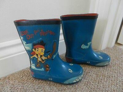 Jake Pirate Boots (TU Sainsburys Boys Welly Boots Wellies Wellington Jake & Neverland Pirate Size)