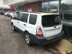 Subaru Forester 2006 white wrecking Welshpool Canning Area Preview