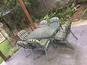 Outdoor dining table and chairs Windsor Brisbane North East Preview