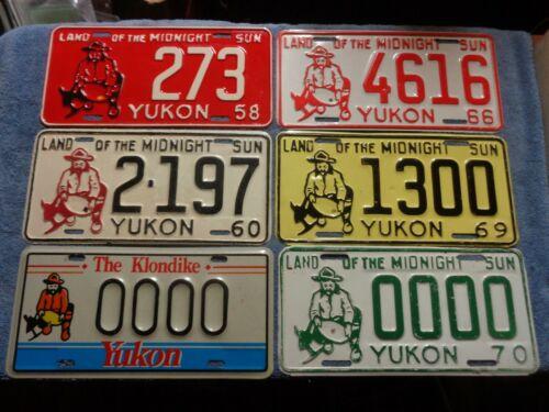 YUKON 6 license plate lot 1960 1966 1969 1970 1980 (1958 perfect reproduction)