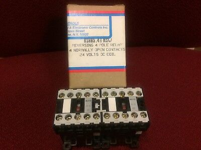 Reversing 4 Pole Relay 24 Volts Dc Coil New