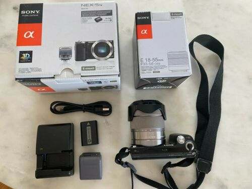 Sony Alpha NEX-5N 16.1MP Digital Camera - Black (Kit w/ 18-55mm Lens) (NEX-5N)