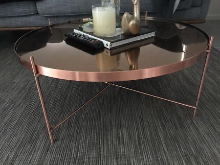 Matt Blatt Coffee Table Rose Gold