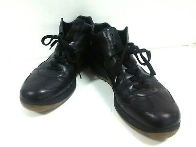Auth LOUIS VUITTON Black Leather GO0053 Sneakers Men